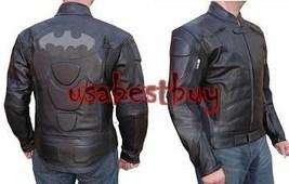 Custom Handmade Men Motorcycle Leather Jacket, Biker Leather Jacket,Batm... - $169.99