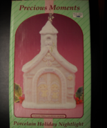 Precious Moments Porcelain Holiday Nightlight 1994 Over 9 Inches Tall Boxed - $14.99