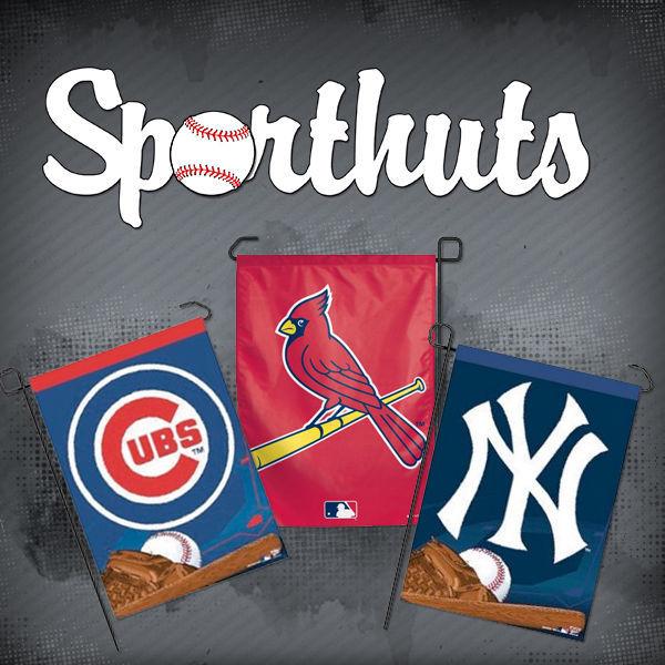 "MLB BASEBALL TEAM LOGO GARDEN YARD WALL FLAG BANNER 11"" X 15"" - PICK YOUR TEAM!"