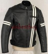Custom Handmade Men Motorcycle Leather Jacket, Biker Leather Jacket, Lining Styl - $149.99