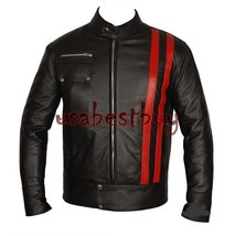 Custom Handmade Men Motorcycle Leather Jacket, Biker Leather Jacket - $149.99
