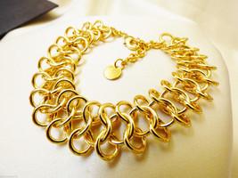 "Gold Tone Love Knot Link Chain Bracelet  8"" L - $44.55"