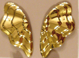 1980s Vintage Enchanted Butterfly Wings Earrings CHOOSE Clip or Pcd Nickel Free  - $14.80