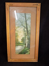 "VINTAGE PICTURE FRAME 17.5"" by 9.5"" gold with gilded corner bracket over... - $487,48 MXN"