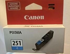 Canon Pixma Cyan 251 C Ink Cartridge 251C Genuine Fast Shipping! - $16.29