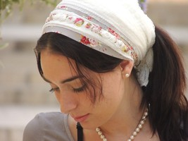My Beauty and Easy Headband tichel ,Snood, Head Scarf,Head Covering,jewish - $41.58