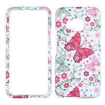 For HTC One M9 Red Butetrfly on White New Phone Protection Case Cover Prl - $8.07