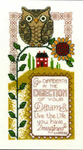 Dream Direction owl cross stitch chart Imaginating - $5.40
