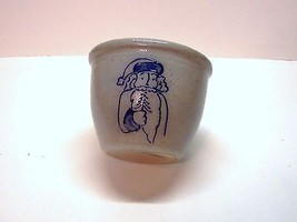 "Eldreth Salt Glazed Crock, Crock Stands 4""h Dra... - $25.00"