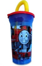 THOMAS CUP WITH STRAW & LID-A set of three - $10.00