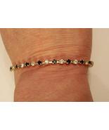Prong Set Rhinestone Tennis Bracelet Excellent Nickel Free Costume Jewelry - $14.80
