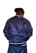 Dissizit DxBones Slickster Navy White Polyester Padded Stadium Jacket NWT image 2