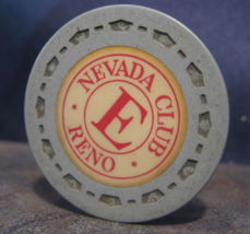 """1954 Roulette Chip From: """"The Nevada Club""""- (sku#3498) - $3.99"""