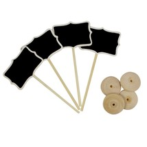 OurWarm® 50Pcs/lot Mini Wooden Chalkboard Blackboard Wood Card Holder We... - $37.52