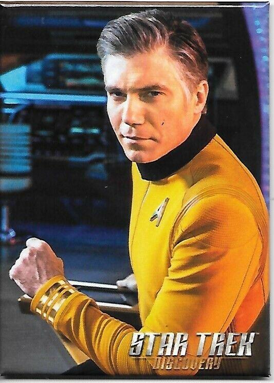 Star Trek Discovery TV Captain Pike Sitting Refrigerator Magnet NEW UNUSED - $3.99