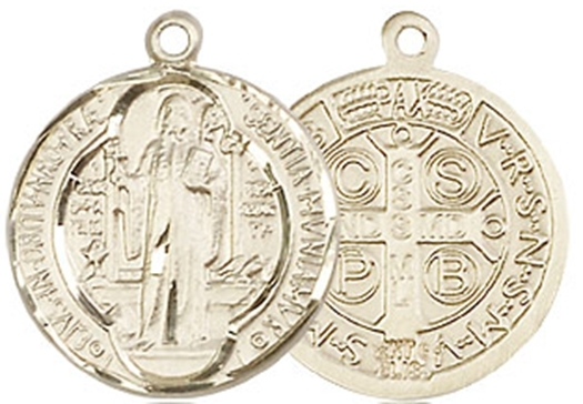 Primary image for ST. BENEDICT MEDAL - 14KT Gold Medal - NO CHAIN - 0026B