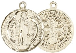 ST. BENEDICT MEDAL - 14KT Gold Medal - NO CHAIN - 0026B