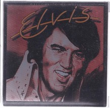 ELVIS PRESLEY Glass Coaster Set or 4, Brand New - $7.95