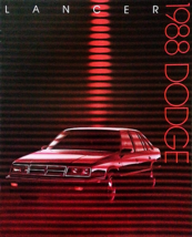 1988 Dodge LANCER sales brochure catalog US 88 ES SHELBY - $6.00