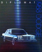 1988 Dodge DIPLOMAT sales brochure catalog US 88 - $9.00