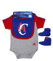 NEW NWT ADIDAS NBA INFANT BABY TODDLER 3 PIECE CREEPER SET LOS ANGELES CLIPPERS image 6