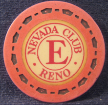 """1954 Roulette Chip From: """"The Nevada Club""""- (sku#3499) - $3.99"""