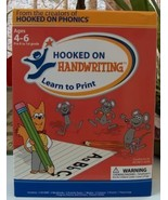 Hooked on Handwriting Learn to Print - $32.00