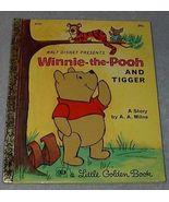 Walt Disney Winnie the Pooh and Tigger Vintage 1968 Little Golden Book  - $5.95