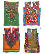 Big VINTAGE Banjara Neck Yoke Embroidered Appli... - $29.00