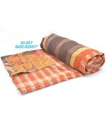 Vintage Kantha Quilt Gudri Reversible Throw Ral... - $32.30