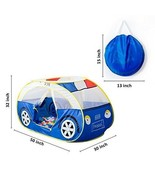 Large Police Car Tents Waterproof Indoor and Outdoor Cute Car Play Hour ... - $59.70