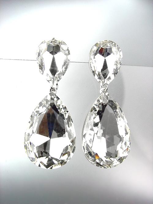 FABULOUS Multicolor Crystals Antique Metal Chandelier Dangle Peruvian Earrings