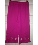 Hanna Andersson Size 130 Pink Knit Pants / Leggings 7 - 10  New - $16.66