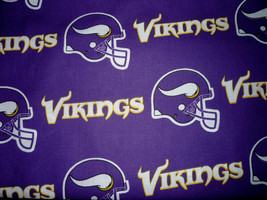 Minnesota Vikings Cotton Logo Fabric FQ 18 x 29 - $3.00