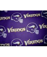 Minnesota Vikings Cotton Logo Fabric FQ 18 x 29 - $3.00