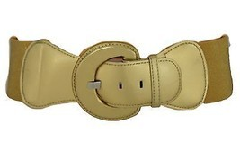 New Women Fashion Belt Hip Waist Stretch Metallic Gold Buckle Plus Size ... - $12.73