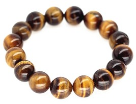 Tiger Eyes Large Beads Meditation Bracelet Men Woman Prayer  - $18.95