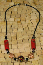 Necklaces - Red Necklace - Necklaces - Beaded necklce - Handmade beaded ... - $15.00