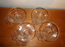 Glass Dessert Dishes Set of Four Vintage - $10.95