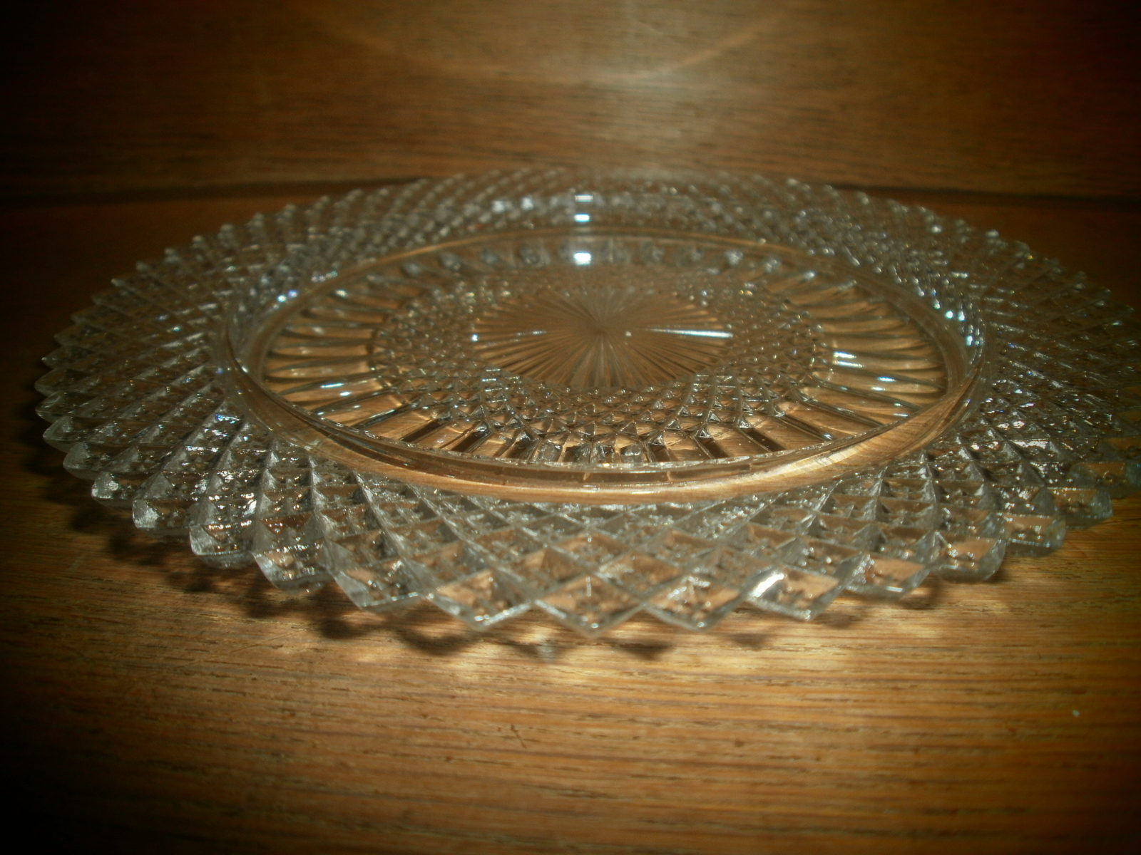 Antique Glass Plate / Serving Dish