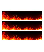 Flames edible cake strips cake wraps decorations - $7.80