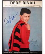 FRANKIE AVALON (DEE DEE dinah) hand sign autograph sheet music (classic) - $225.00