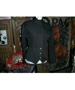 LINA LEE Italy Vintage Jet Black Lightweight Jacket Size S - $40.00