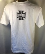 Jesse Who?West Coast Choppers Iron Cross Short Sleeves , White T-Shirt M... - $24.74