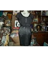 NANETTE LEPORE She's Soooo Groovy Jet Black Silk Dress Size 4 - $40.00