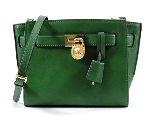 MICHAEL Michael Kors Hamilton Traveler Messenger Bag in Gooseberry Green