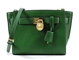 MICHAEL Michael Kors Hamilton Traveler Messenger Bag in Gooseberry Green - £176.25 GBP