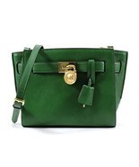 MICHAEL Michael Kors Hamilton Traveler Messenger Bag in Gooseberry Green - £165.61 GBP