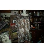 DANA BUCHMAN Wild Leopard Print Satin Blouse Size XL - $12.87
