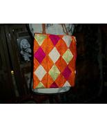 BIASA Lovely Orange+Violet Fabric Tote  Computer Bag - $24.75